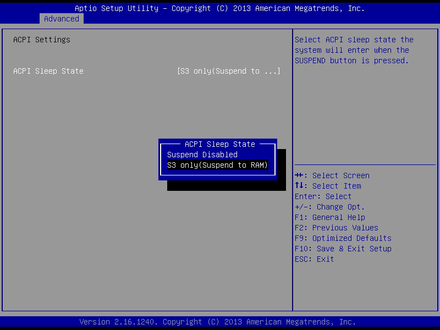 EMB-3706-ACPI Settings