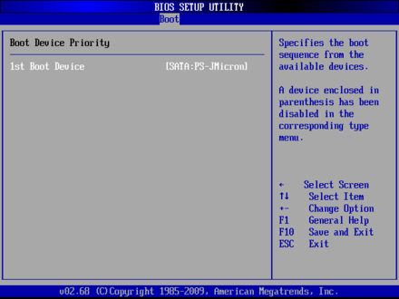 EMB-4870 Boot Device Priority