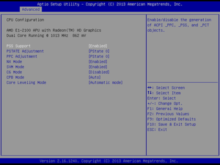 EMB-3706-CPU Configuration